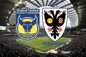 Oxford United - Wimbledon bet365